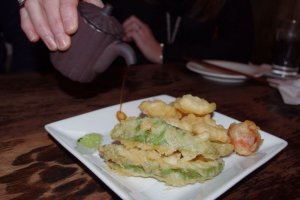 Camembert and Avocado Tempura