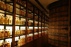 Immaculate displays of whiskey