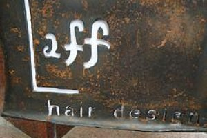 Laff Hair Design Sign