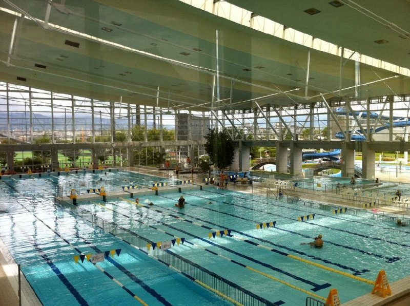View of the different pools