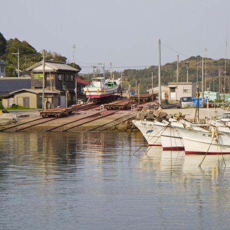 角島の漁港