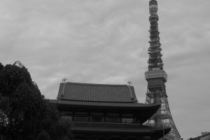ภาพโตเกียวทาวเวอร์ที่ถ่ายจากวัดโซโจจิ