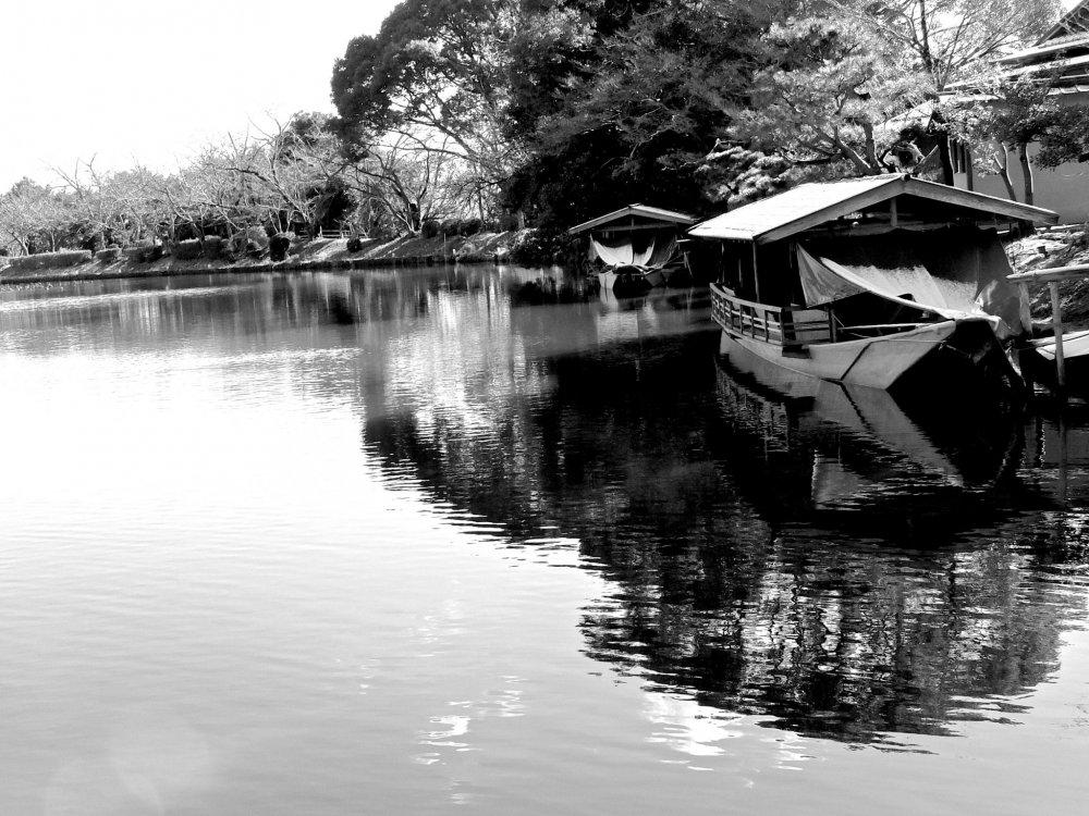 Boats taking a winter break