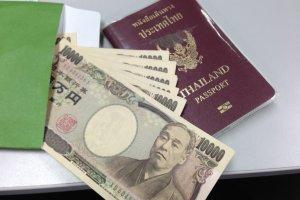 เงินสดทั้งหมดที่ผมมี 120,000 เยนกับพาสปอร์ตหนึ่งเล่ม