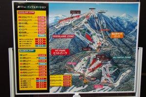 แผนผังสถานที่เล่นสกีของเขาเทเน่