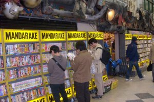 Are you going to buy that? Browsers at Mandarake's main comics store