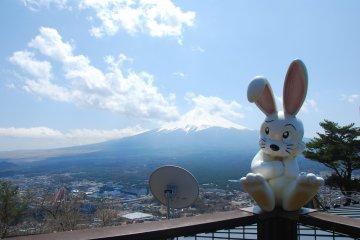 <p>รูปปั้นกระต่าย สัญลักษณ์ของกระเช้าลอยฟ้า Kachi Kachi Ropeway</p>