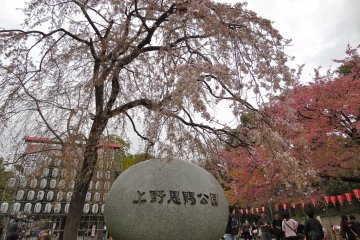 <p>The entrance to Ueno Park located in central Tokyo</p>