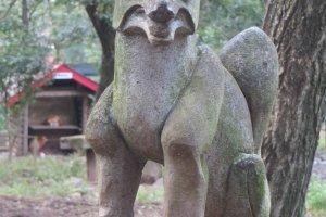 A statue in the preserve.