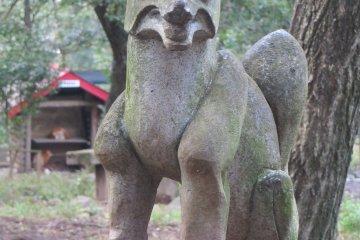 Una estatua de la reserva.