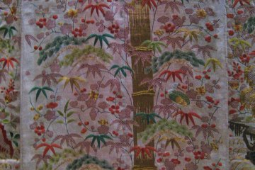 Detail from Uchikake (outer garment). Satin, 19th century