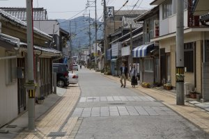 The museum is on this old-style street in Nagato