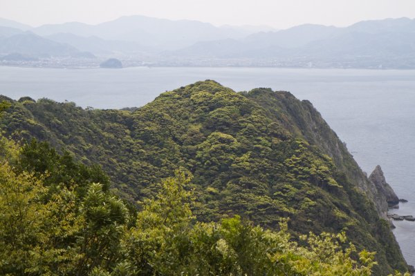 View from OmijimaTakayama Campground onto Fukawa Bay