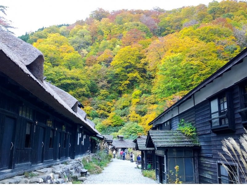 <p>Old black houses and Alpine scenery makes a magical mix in the Semboku countryside</p>
