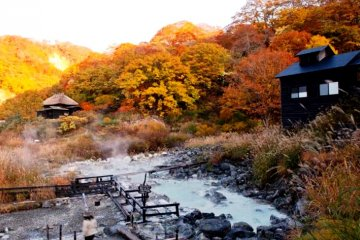 <p>Between spring and fall, the hot springs of the iconic Nyoto Onsen are open. Their milky blue waters and the traditional mountain lodges and ryokans make this a photographer&rsquo;s delight, as well as a wonderful place to relax and sooth your mind.&nbsp;</p>