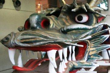 <p>Dragons and folk tales at the surprisingly modern Tazawako Station, the gateway to Semboku</p>