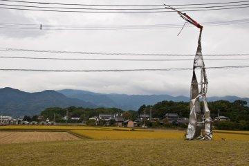 <p>Conceptual sculpture in the surroundings of&nbsp;Yoshinogari-koen Station&#39;s north entrance</p>