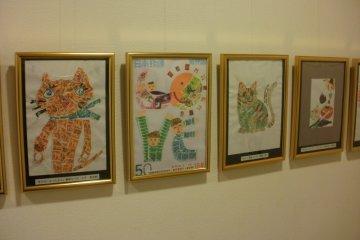 Children's stamp art