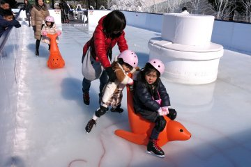 <p>Families can get creative when wanting to skate safely with each other</p>