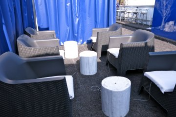 <p>One of the lounge areas at Sora&nbsp;x Niwa x Ice Park</p>