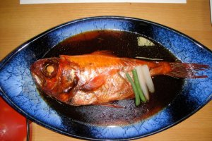 "The kinmeidai, or ""alfonsino"" in English, was delicious!"