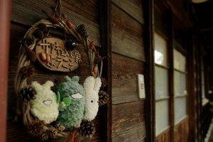 Totoro meets EXPO characters Morizo and Kikkoro