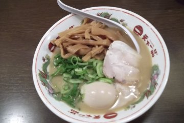 <p>Kotteri soup noodles with extra menma (bamboo)</p>