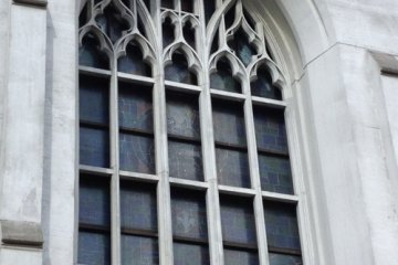 The stained glass windows of Nunoike Cathedral