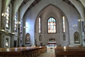 Inside Nunoike Cathedral.