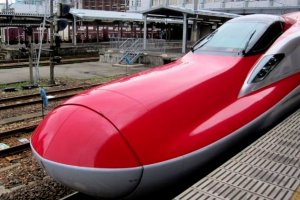 Super Komachi is the fastest bullet train between Akita and Tokyo.