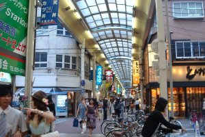 Shinsaibashi Shotengai interior, looking south