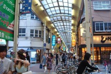 Shinsaibashi Shotengai interior, looking south