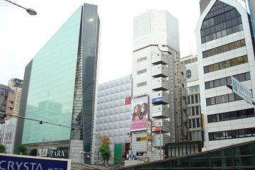 Shops at Shinsaibashi-suji, the historic bridge.
