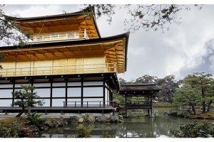 Behind Kinkaku-jiGolden Pavilion Temple, Kyoto, Japan
