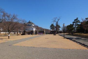 Inari yagura on the left