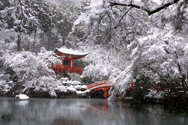 Snow at Daigo Temple