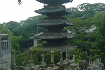 Nagoya's oldest 5 tiered pagoda at Koshoji Temple.