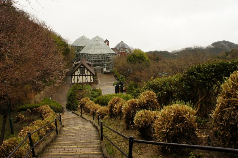 <p>Walkway leading to the glasshouse. The best seasons to visit are spring and autumn, with the flora and fauna being at its peak.</p>