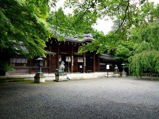 ห้องโถงหลักของศาลเจ้า Oishi