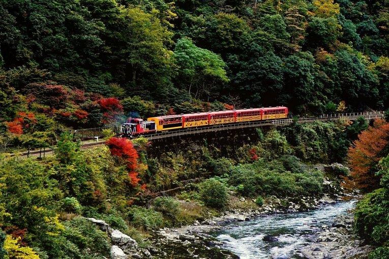 เส้นทางรถไฟสายโรแมนติก Arashiyama
