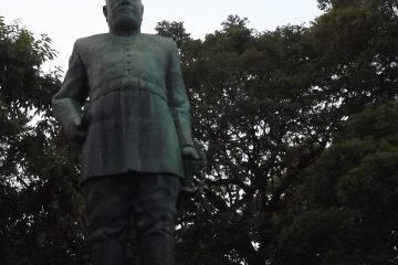 <p>The statue of General Takamori Saigo</p>