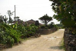 Quiet street in Taketomi Village