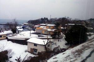 Khung cảnh ngôi làng thôn quê.