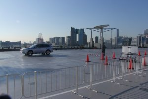 The Tokyo Motor Show made use of the center's rooftop exhibition space
