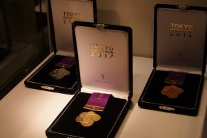 This year's medals on display