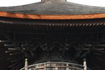 Close up of Nagoya's oldest remaining structure at Arako Temple