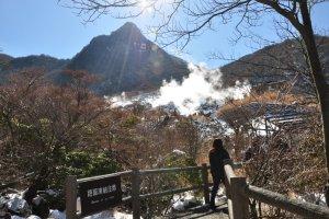 Path to Owakudani Egg Boiling Station