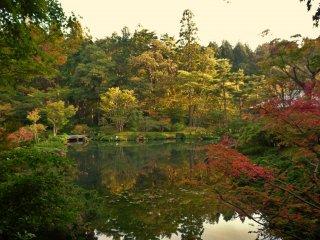 가을에는 나뭇잎 색이 변하기 때문에 더욱더 아름답다.