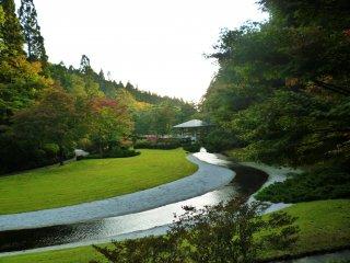 해가 질쯤의 켄리쓰 코이즈미가타 공원