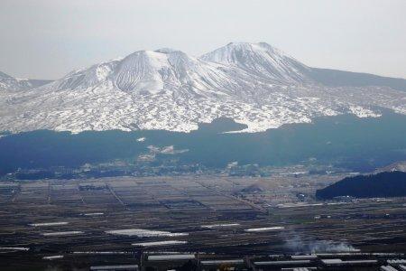 Musim Dingin di Kawasan Gunung Aso